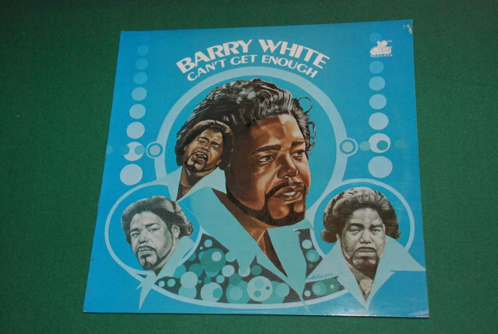BARRY WHITE   –  Can't Get Enough  1974   UK / ENGLAND   LP -   NEAR MINT