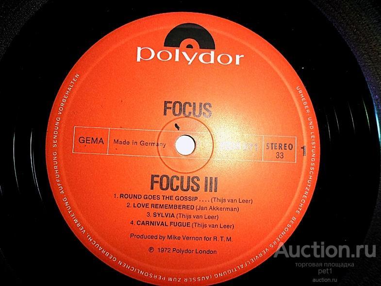 Пластинка виниловая Focus – Focus 3