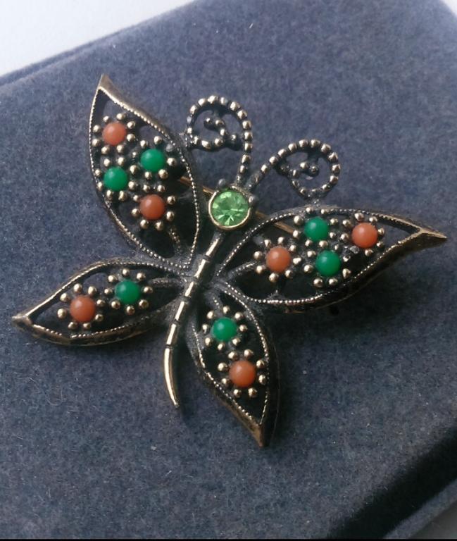 3081/4 брошь бабочка SARAH COVENTRY бижутерия винтаж США
