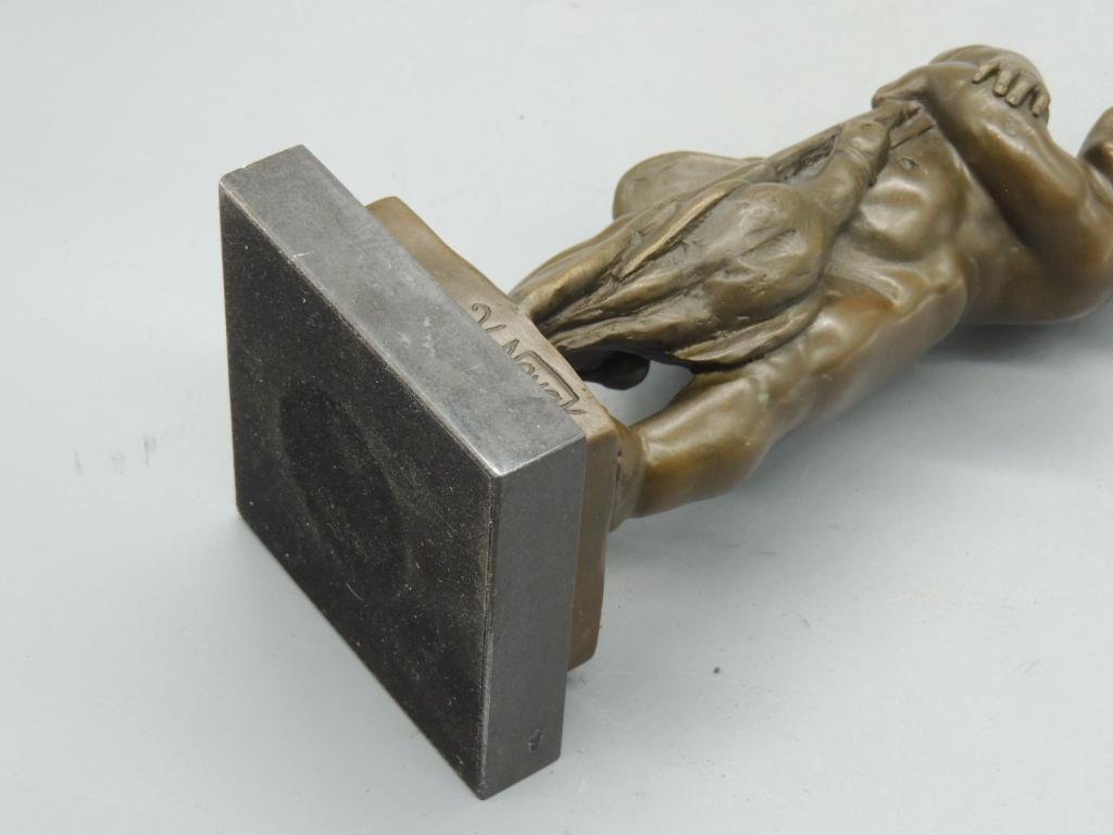 Скульптура Юный Охотник  Красивая Интерьерная  Бронза Мрамор 24 см С Рубля
