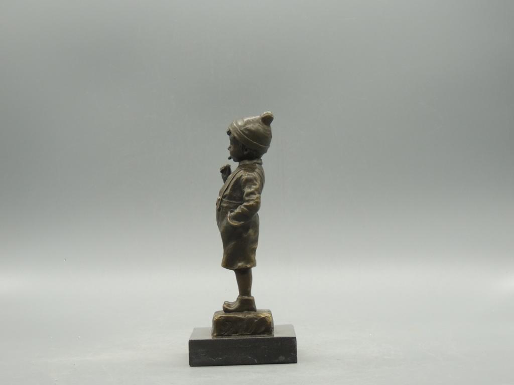 Скульптура Мальчиш Плохиш Беспризорник Красивая Интерьерная Бронза Мрамор 20 см С Рубля