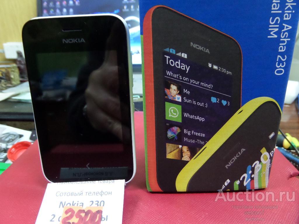 Сотовый телефон Nokia Asha 230 Dual SIM, НОВЫЙ !!! РАСПРОДАЖА !!!
