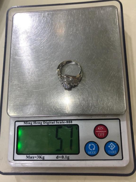 Серебряное кольцо.925-й пробы.Вес-5,7 гр.