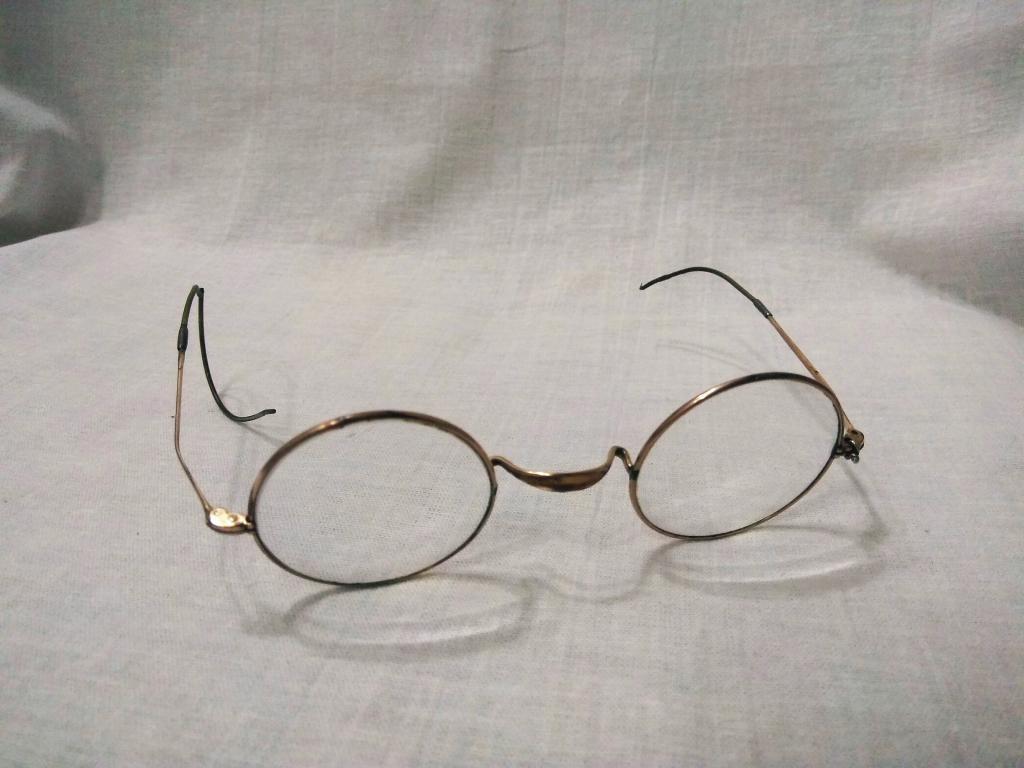Старинные очки футляре. Позолота.