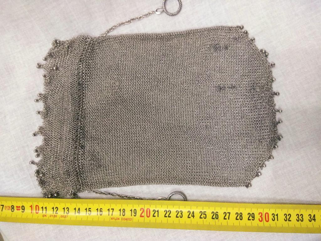 Серебро 84 пробы. Дамская сумочка, кольчуга, кольчужка. Большая, массивная.
