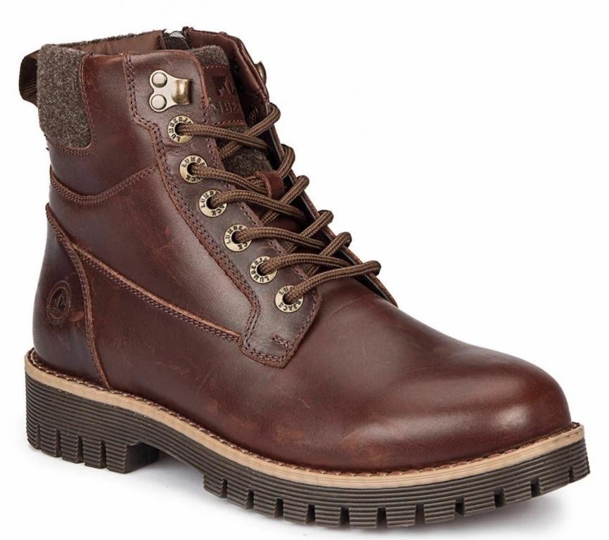 Ботинки LUMBERJACK MERO р 44 оригинал натуральная кожа новые пр-во Турция шнурки и молния