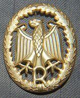 Знак различия резервиста металлический, цвет золотистый