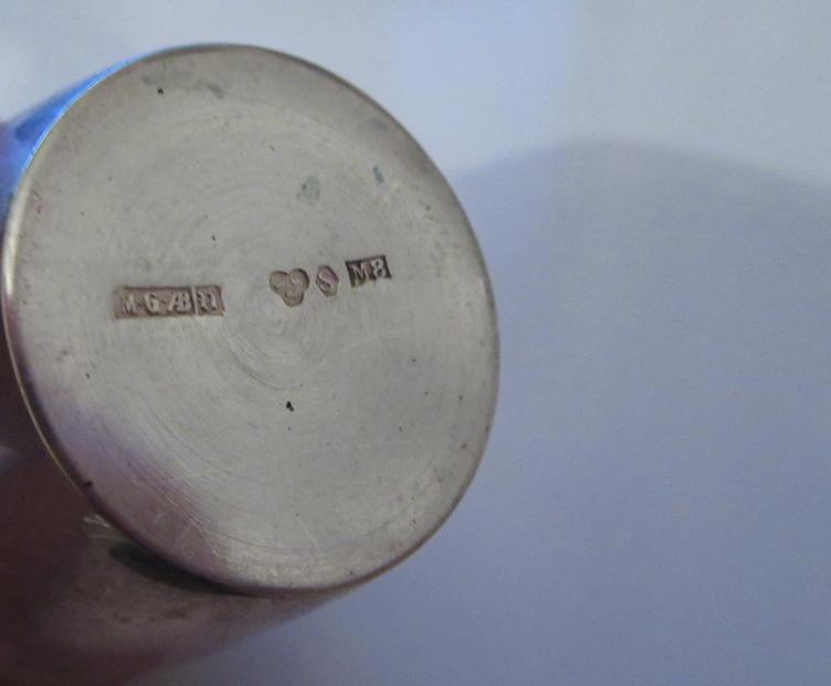 Небольшая стопка серебро Шведская проба , стопки