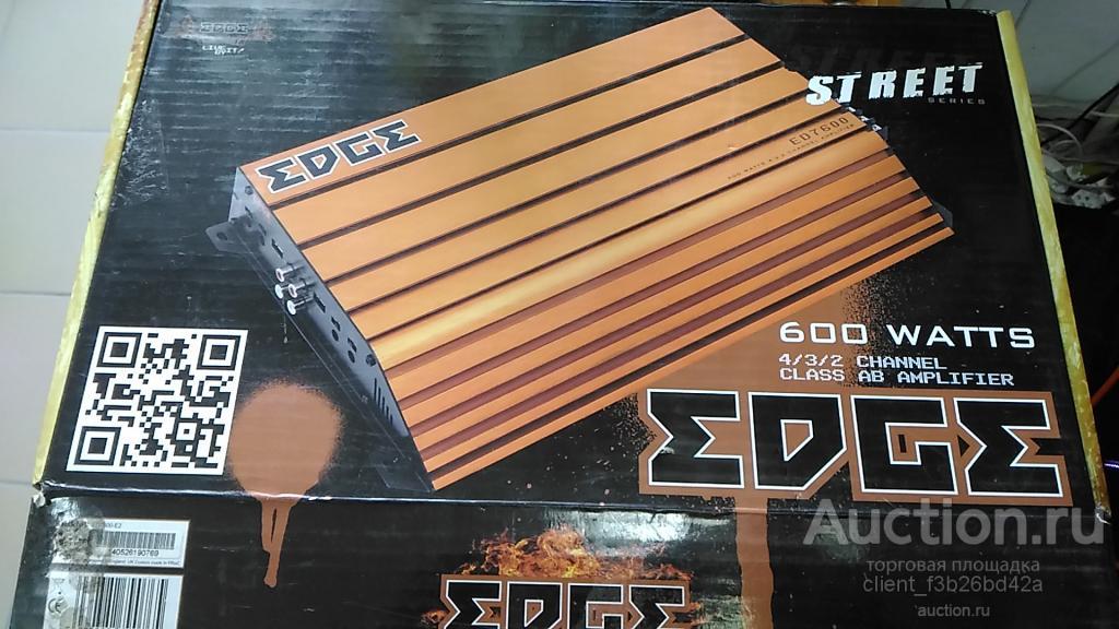 НОВЫЙ, Авто усилитель сабвуфера и колонок EDGE (Англия) ED 7600 ; оригинал, мощность 600 ватт