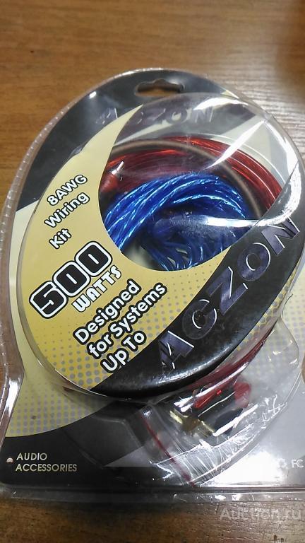 Комплект проводов для подключения авто усилителя сабвуфера, колонок, мощность 500 ватт, длина 4,5 ме