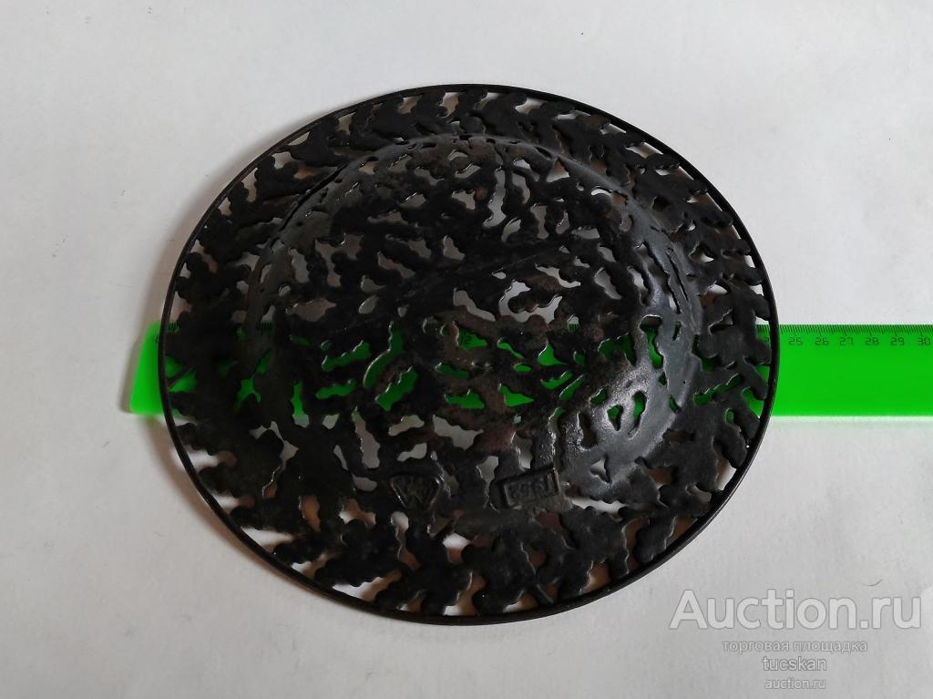 Тарелка настенная, конфетница, фруктовница чугун Листья дуба Куса 1952 г. СССР