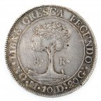 8 реалов 1836 год,  Гватемала,  Серебро, вес 26.9гр.