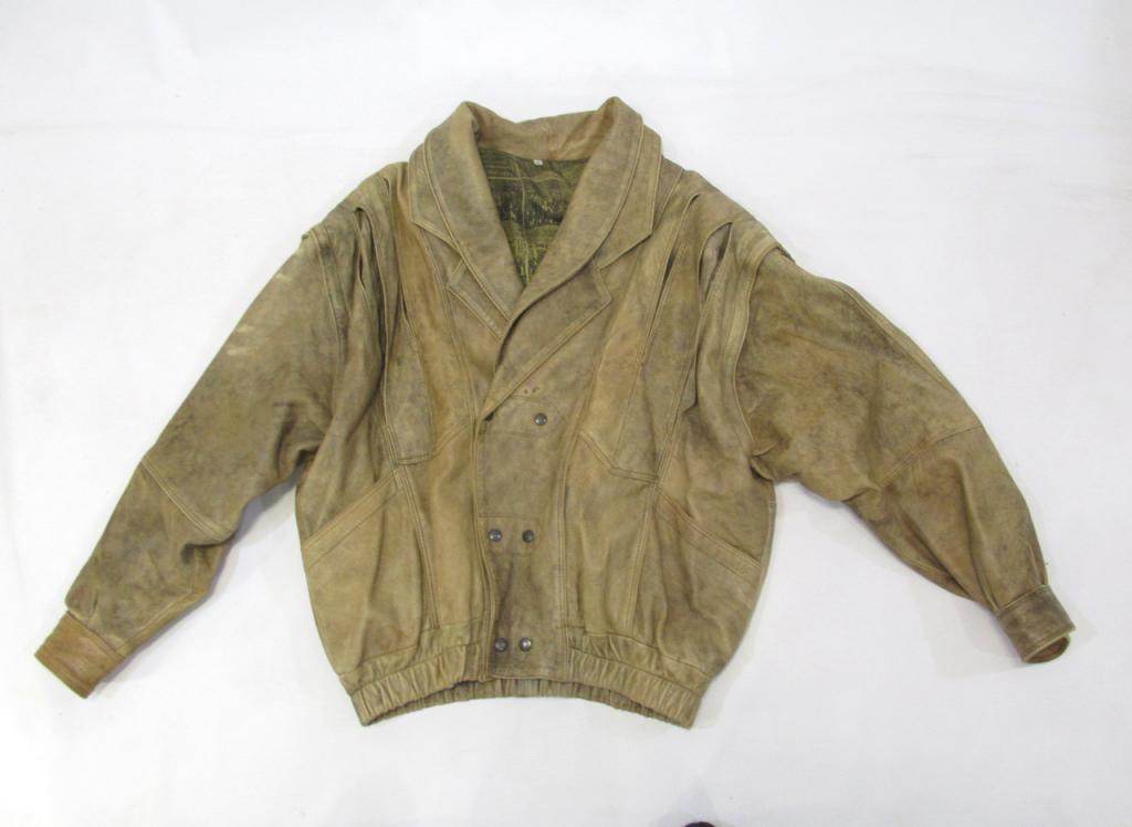 Куртка кожаная винтажная Vera Pelle, размер М, Оч хор сост!
