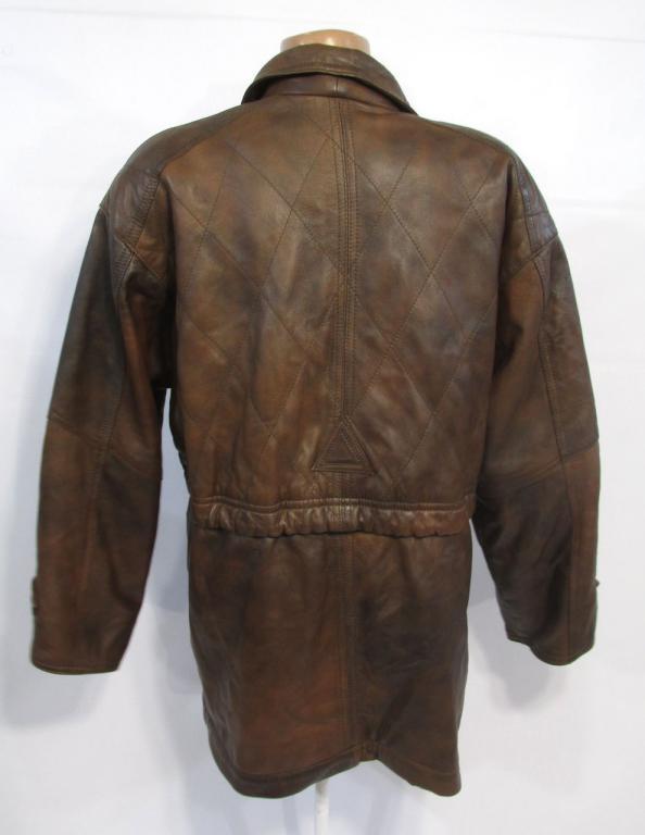 Куртка  кожаная Echtes Leder, коричневая, М, Отл сост!