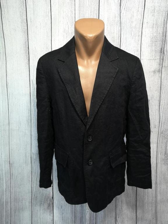 Пиджак стильные Jack&Jones, лен, черный, Отл сост! (разм 170, S)