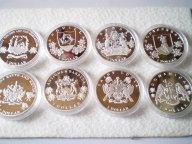 Восточные Карибы Антигуа, Доминика и т.д. 1 доллар 2014.PROOF,серебро,капсула.Подборка из 8-ми монет