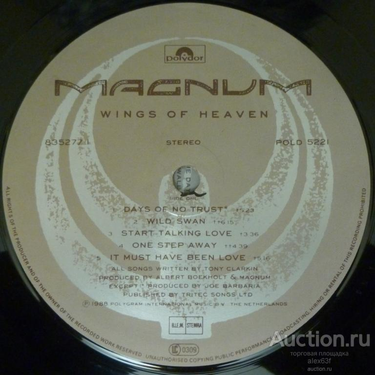 Magnum 1988 Wings Of Heaven (Holland)