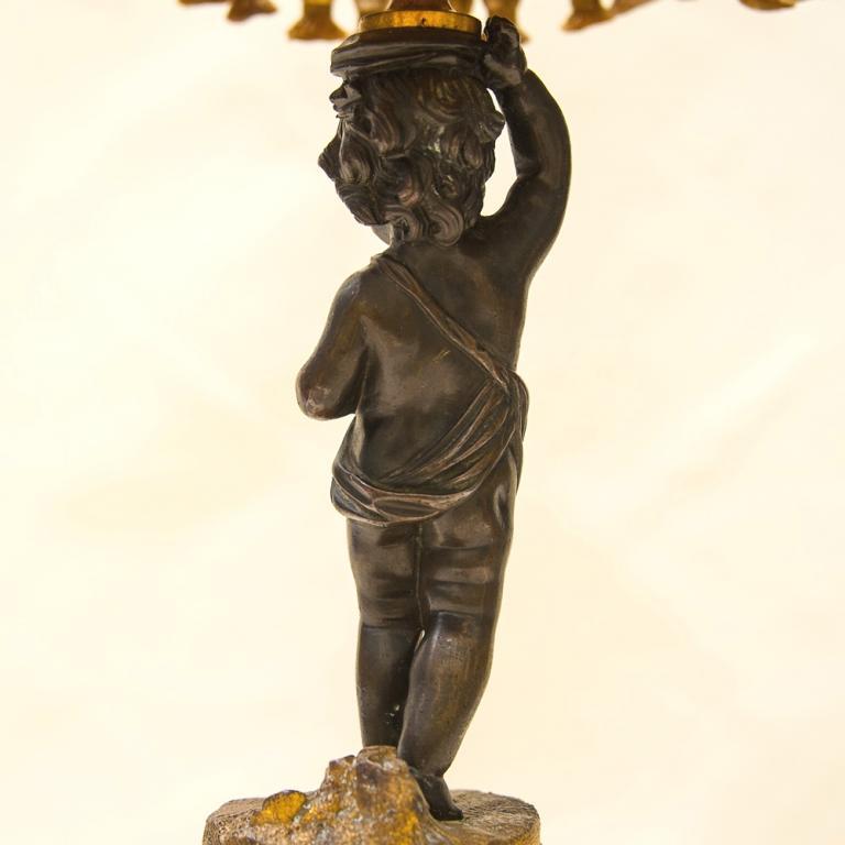 Винтажная Настольная Электрическая Лампа - Светильник «Путти - Ангелочек» Франция.