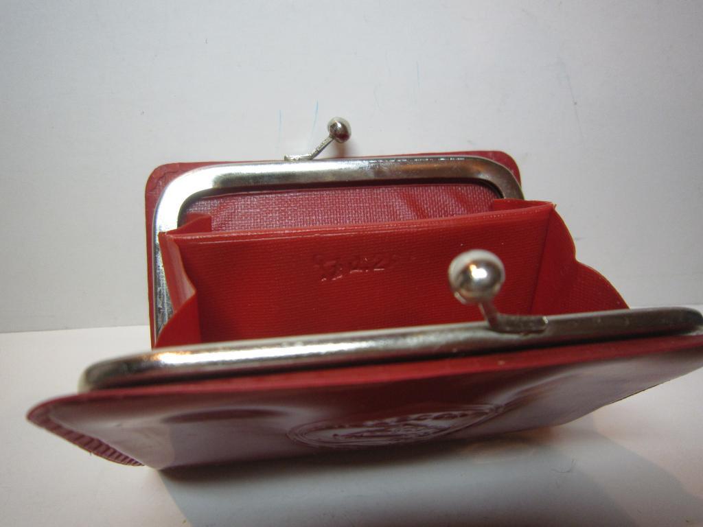 Редкий ПОРТМОНЕ БУМАЖНИК КОШЕЛЕК ОДЕССА СССР красный цвет Клеймо цена 2 рубля