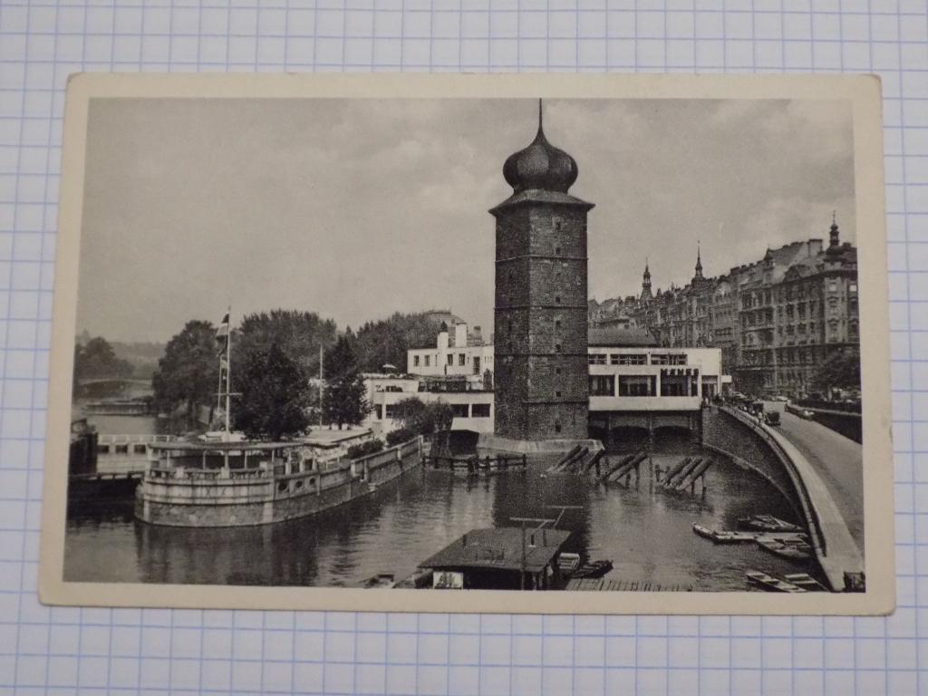 Футляр для открыток старый город