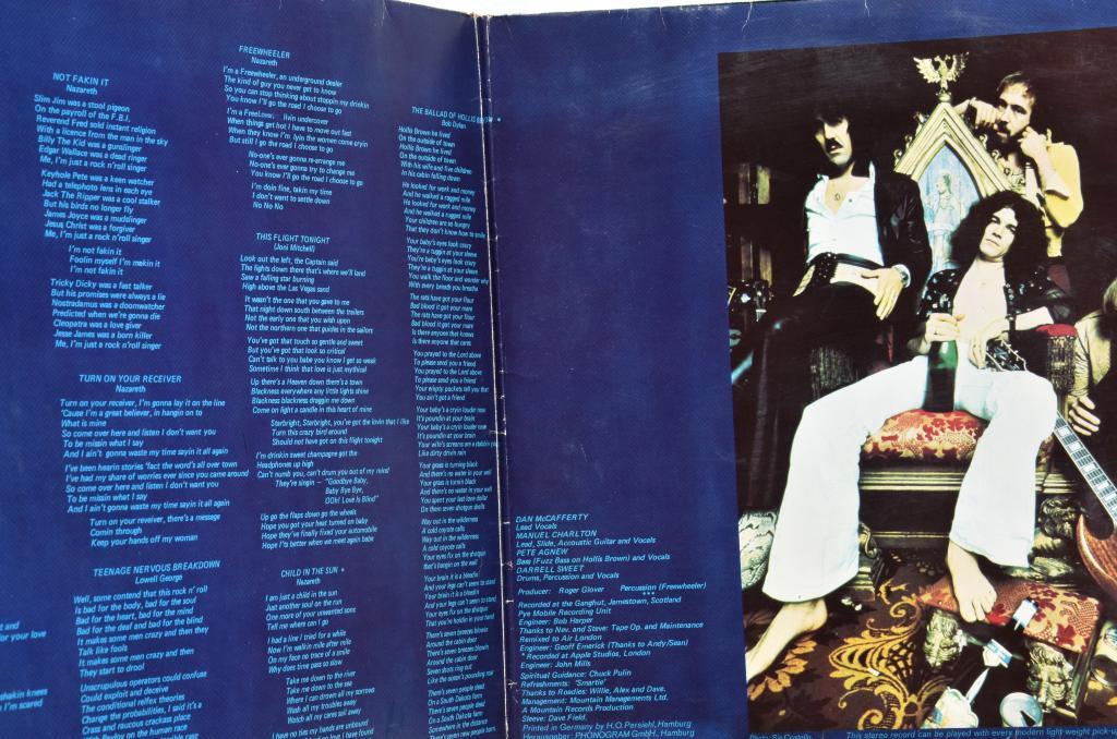 """Nazareth """"Loud' N' Proud"""" 1973 Lp"""