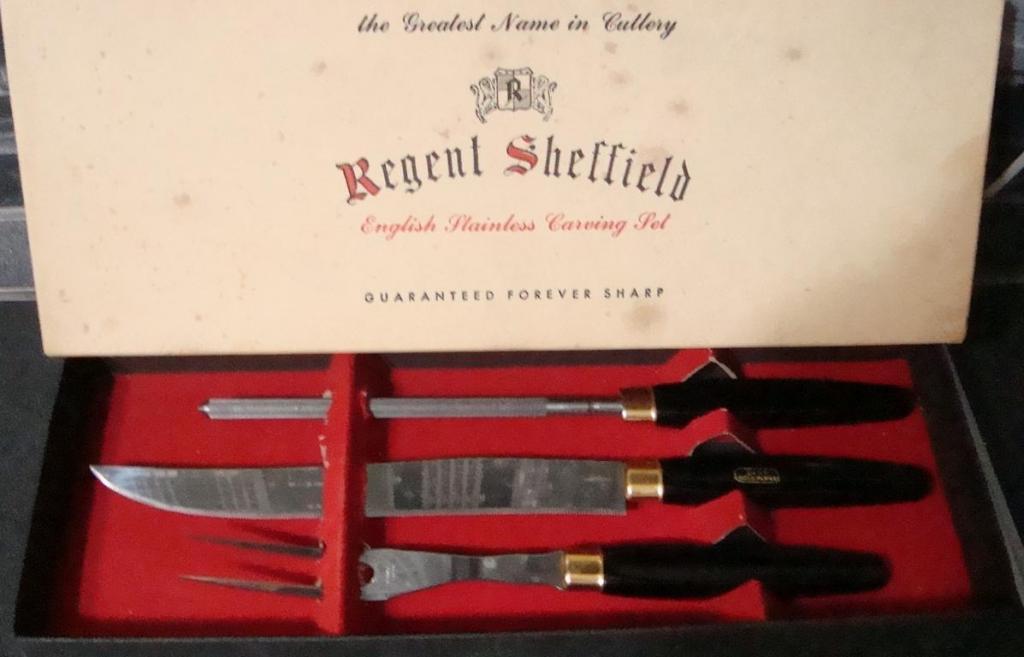 """Винтаж Cтоловый набор нож, вилка, мусат """"Sheffield""""  С рубля"""