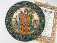 929 ем КОЛЛЕКЦИОННАЯ ТАРЕЛКА VILLEROY BOCH ГЕРМАНИЯ дом кабинет подарок декор ТРИ ЦАРЕВНЫ РУССКИЕ