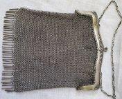 """СЕРЕБРО 84. Серебряная сумка, сумочка, кольчуга, кольчужка. 368 грамм. Клеймо """"М.онь"""""""