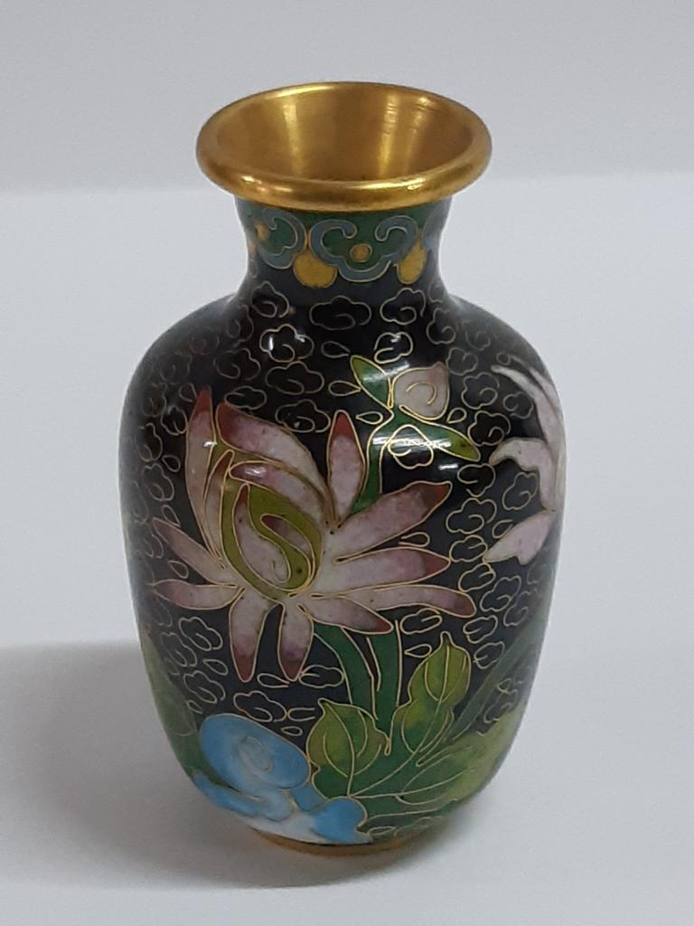 Ваза вазочка под Сухоцвет Клуазоне Китай  h - 8,5 см  с рубля