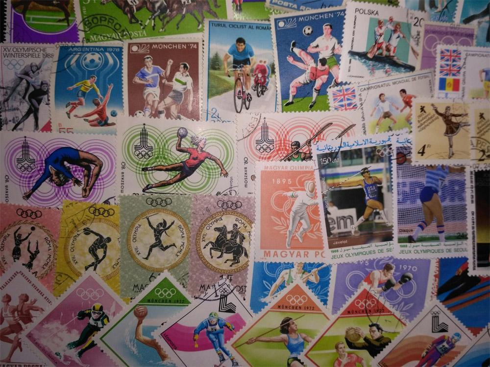 "Коллекция 100 марок ""спорт"""