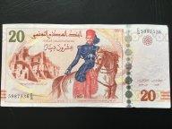 Тунис 20 динар 2011 г., из оборота