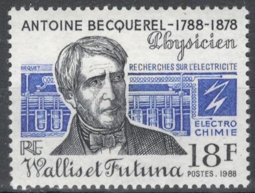 Уоллис и Футуна, 1988, № 560, € 1,1, MNH, полн., А.С. Беккерель - французский физик