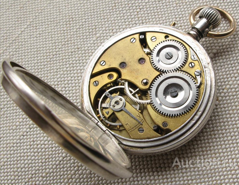Карманные часы, За джигитовку, Павел Буре, 49.5мм, серебро 84 проба. На ходу, отстают немного.