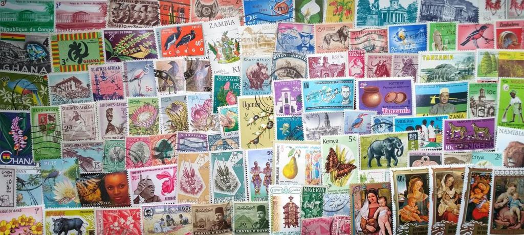 Коллекция 100 марок стран Африки