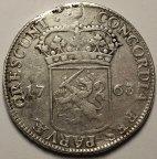 1 Дукат 1763 года. Голландская Республика (Утрехт). Нидерланды. Серебро. Редкая!