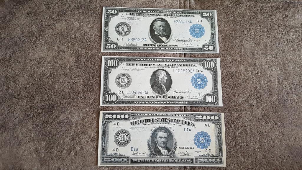 Качественные копии банкнот США c В/З Federal Reserve 1914-1918 год. супер скидки!!!