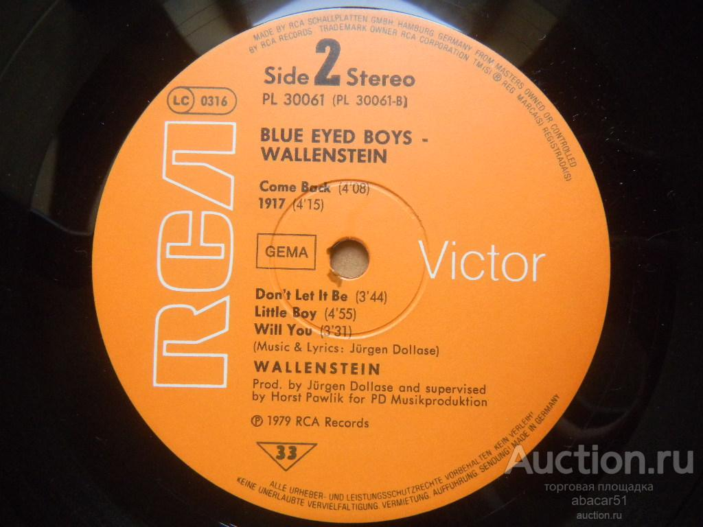 WALLENSTEIN Blue Eyed Boys GERMANY. RCA IN/SL 1979 год LP ORIGINAL N.MINT/EX++.