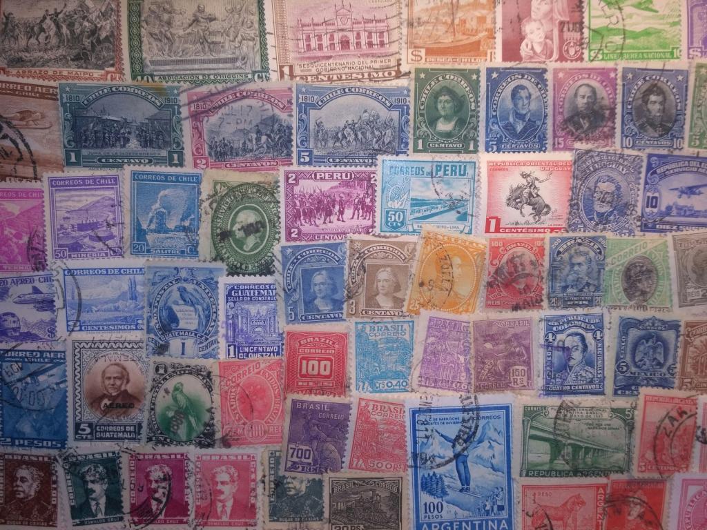 Коллекция 100 марок стран Южной Америки