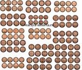 Советские медные монеты 1,2,3,5 копеек 1925 г. ММД Национальная серия, проекты, 15 комплектов 60 шт