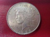 1 доллар США 1922 г  мал забойка на канте  .ОРИГИНАЛ !!СЕРЕБРО/ Ч 564