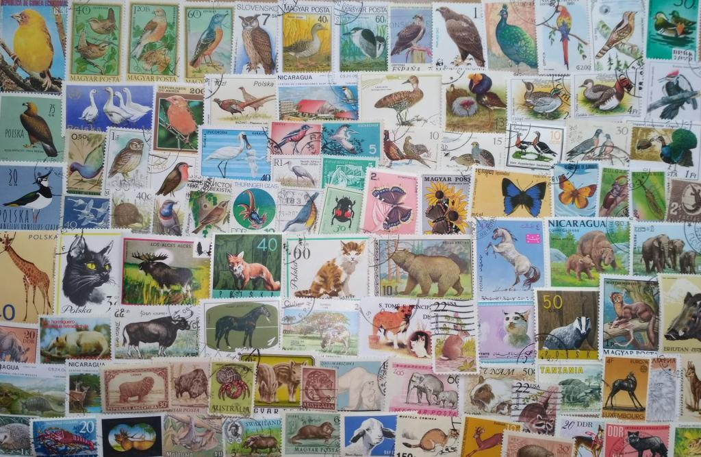 """Коллекция 100 марок """"фауна"""""""