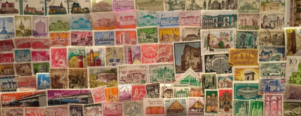 """Коллекция 100 марок """"архитектура"""""""