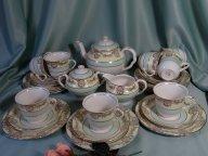 Старинный чайный английский сервиз на 8 персон, 27 пр.Medvinter, Burslem/England