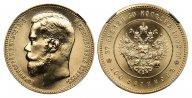 37 рублей 50 копеек - 100 франков 1902 г. Р (рестрайк), в слабе ННР MS 70