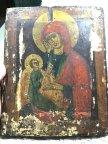 """Антикварная рукописная икона 19 века """"Богородица Утоли Моя Печали"""""""