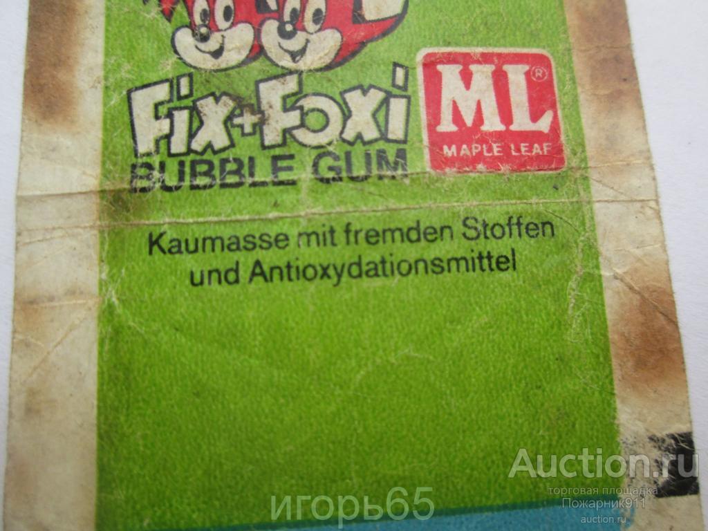 Обертка от жвачки Fix  Foxi ML