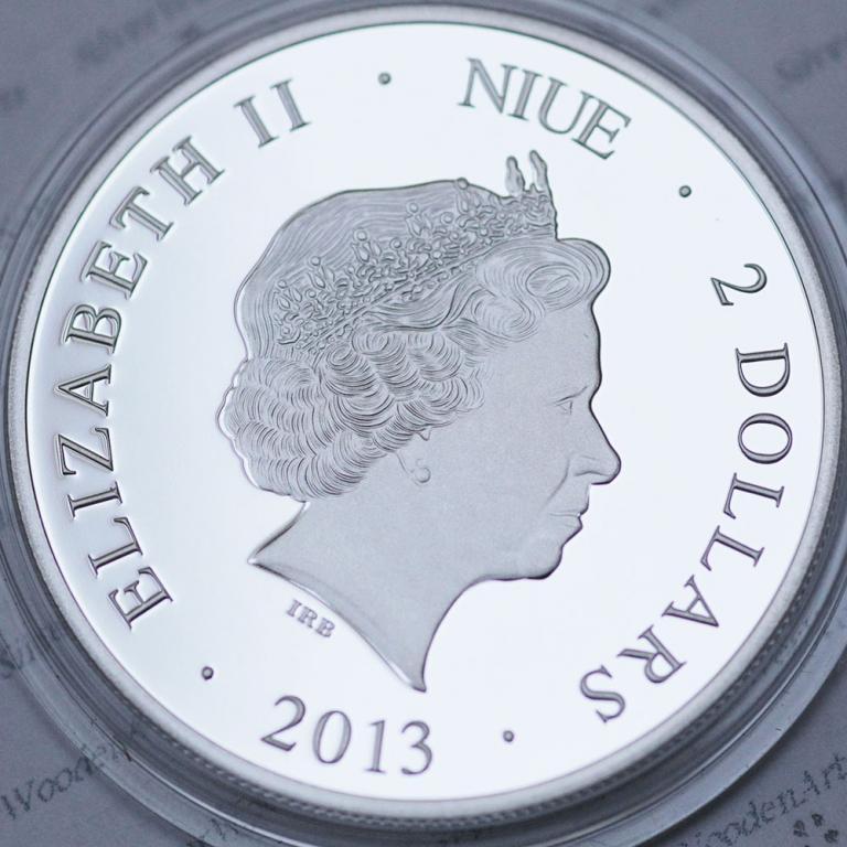 2 доллара ЛОМО серебро 0.999, Ниуэ 2013 тираж 1000 экз. Редкая. Распродажа! См другие мои лоты!