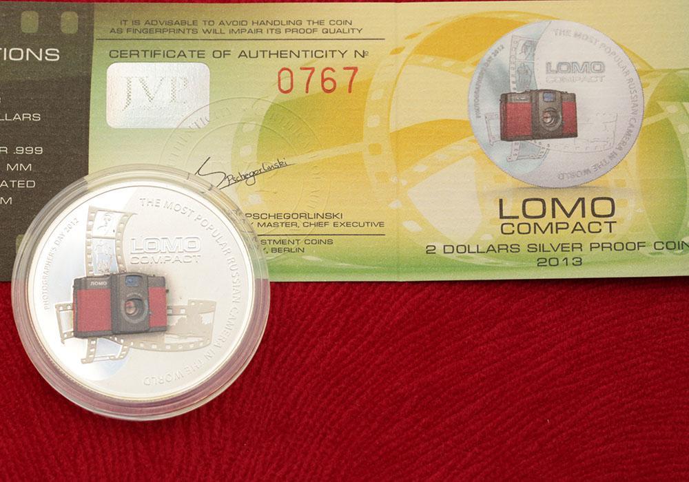 2 доллара ЛОМО серебро 0.999, Ниуэ 2013 тираж 1000 экз. Редкая. Распродажа! См другие лоты.