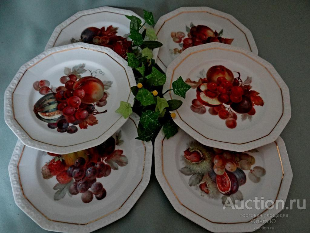 Набор тарелок 6 штук Rosenthal Selb-Bavaria серии Maria. Германия.
