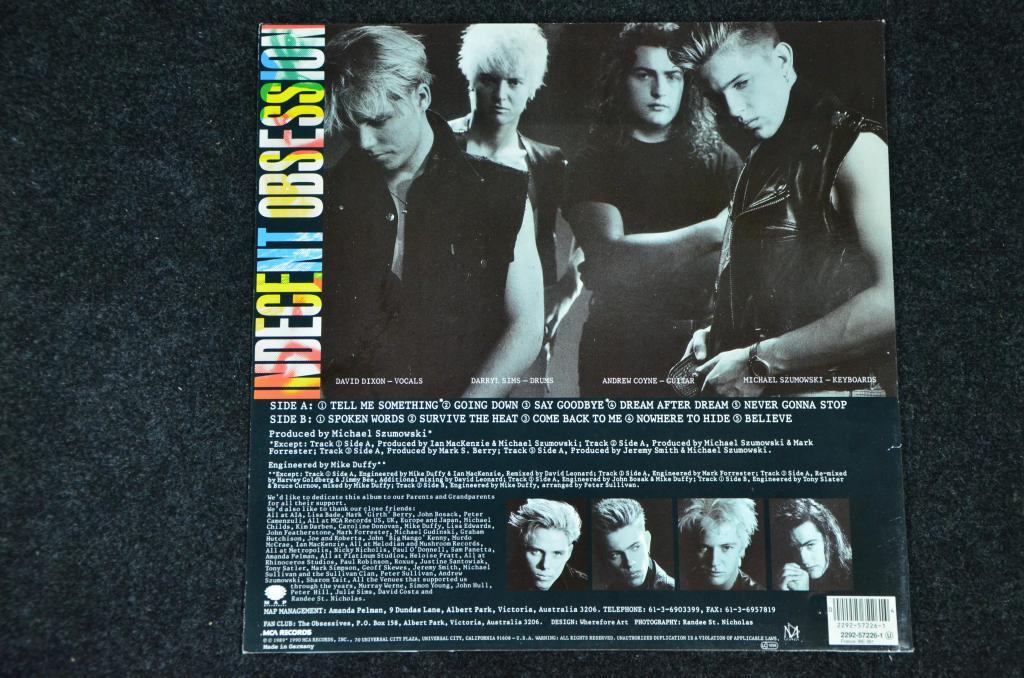 Indecent Obsession - Indecent Obsession (Vinyl, LP, Album)